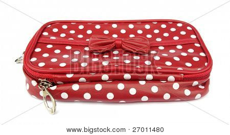 Red layette bag for accessories