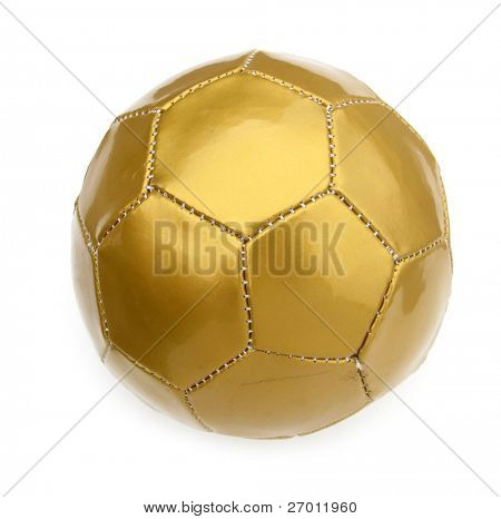 Ball football soccer golden isolated on white