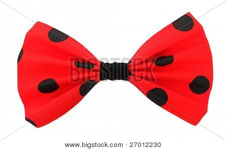 Bow tie red with black spots