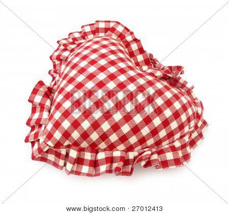 Kissen roten und weißen herzförmige Heimtextilien