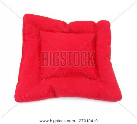Pillow red square shaped home decoration