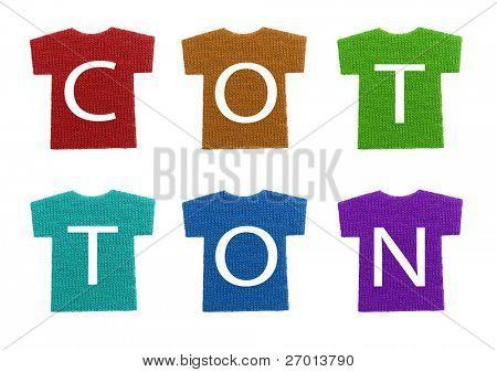 Cotton t-shirts colorful letters