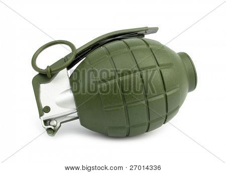 Hand grenade green and gray