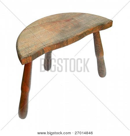 Chair stool wooden with three legs