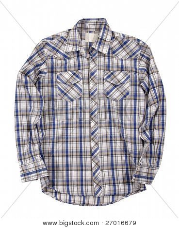 Man's cotton plaid shirt