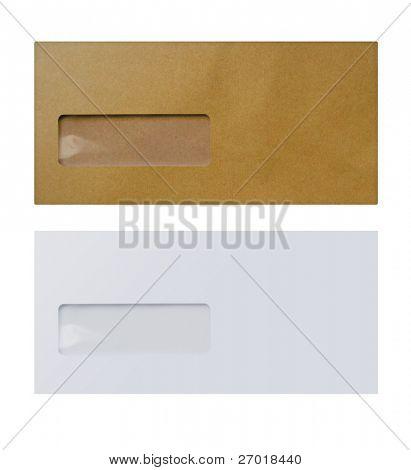 1 White &  1 brown envelope