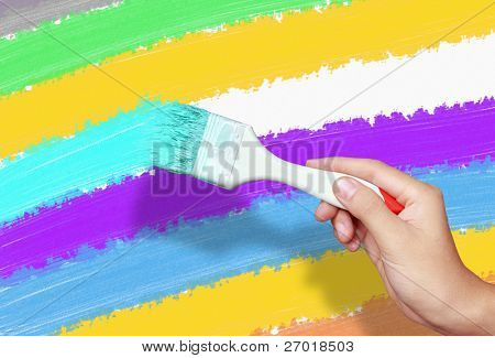 color painting wall with
