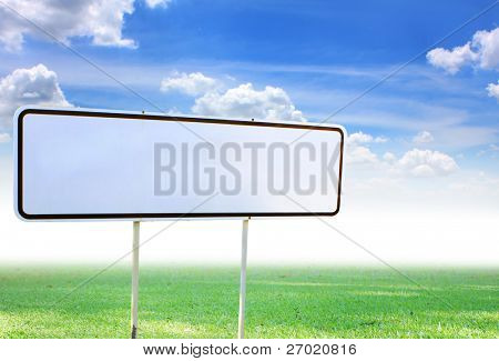 White traffic sign