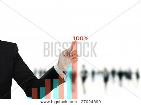 hand business graph