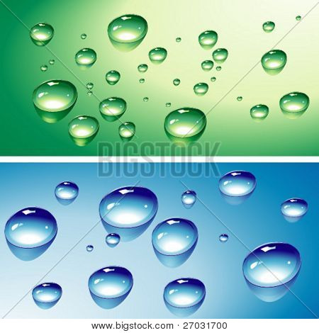 clean water drops