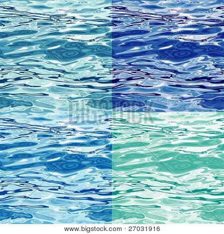 Seamless Water Surface Pattern Variations, raster version