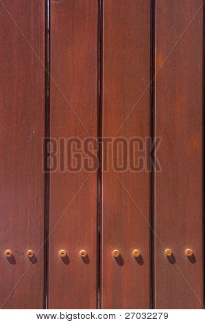 Pattern Dark Brown Wood Fence Background and Texture