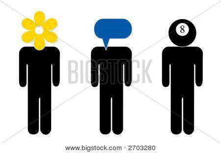 Iconos de cabeza figura
