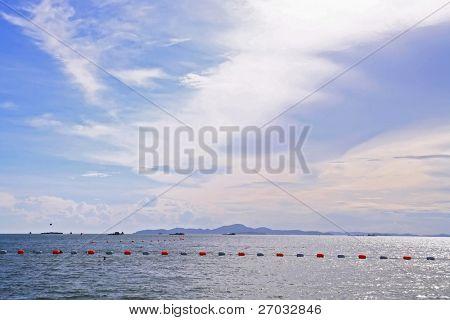 Swimming zone at Pattaya Beach Thailand