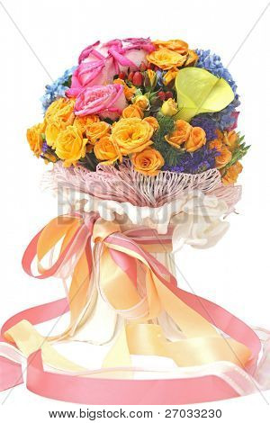 beautiful and colorful flower bouquet