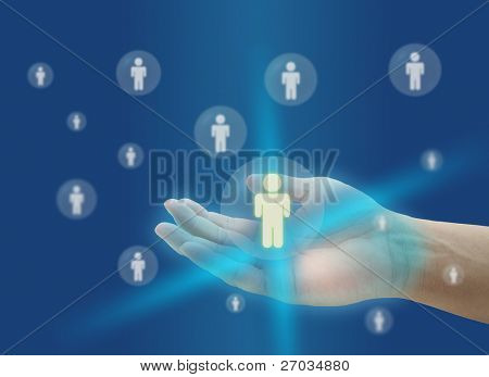 hand hold person for life insurance concept