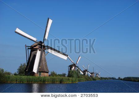 Dutch Mill On The Waterside