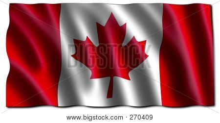 Canadian 3d Flag