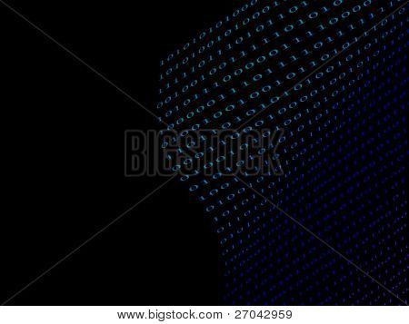 black binary  numbers on dark background
