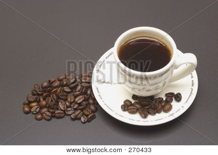 Coffee Cup & Beans