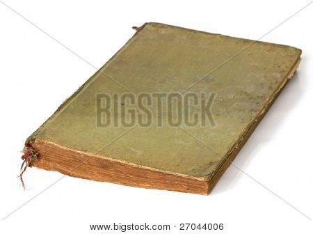 Old book (Ancient book) isolated on white background