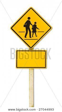 Traffic sign (School warning sign)