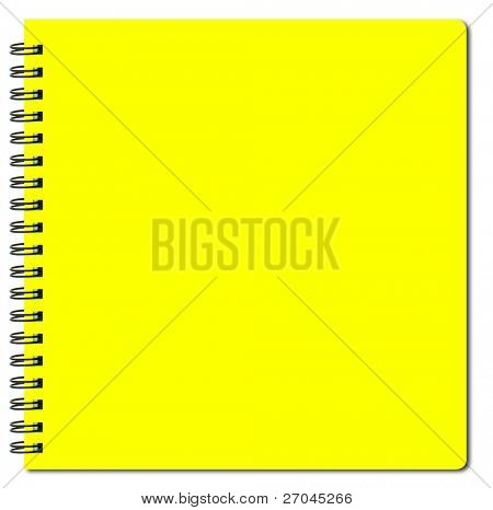 yellow sketch book