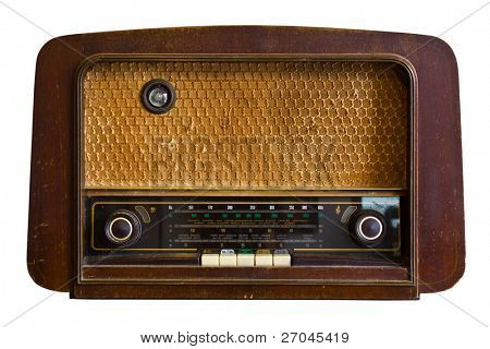 Vintage fashioned radio