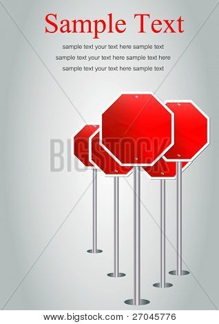 "traffic sign ""blank stop sign frame"""