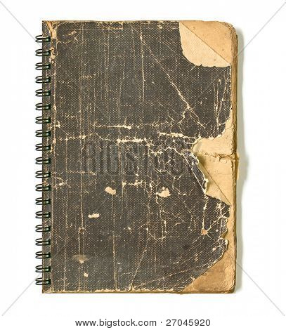 Grunge vintage old cover of notebook