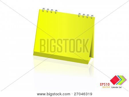 A set of colorful calendar with blank space. Vector illustration. (yellow)