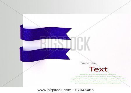 Shiny blue ribbons with copy space.