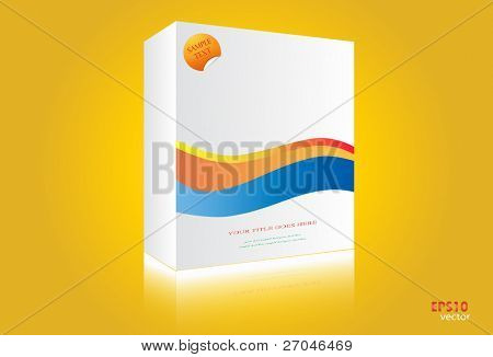 Vector white box isolated  on Yellow