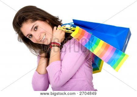 Woman - Shopping Bags