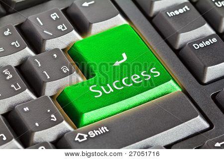 Computer-Tastatur Grüne Schlüssel zum Erfolg