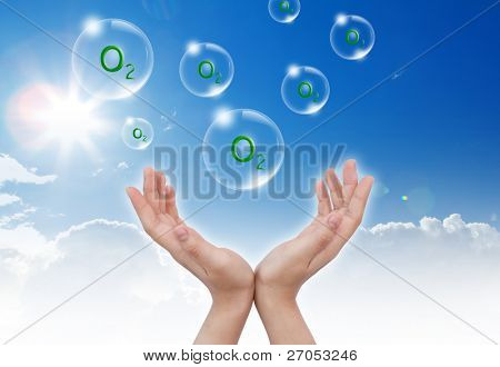 Hand hold Bubbles with
