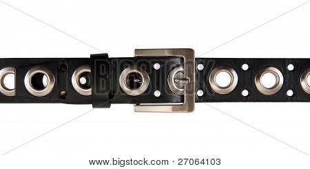 black belt isolated on white background