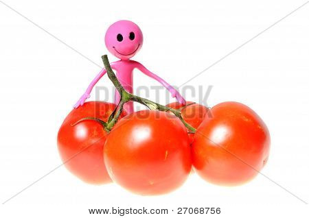 Smiley And Tomatoes