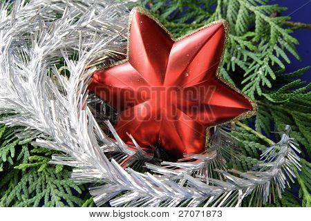 red star as christmas ornament