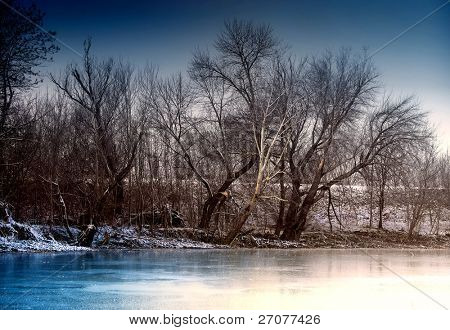 winter landscape of a river