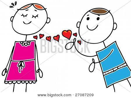 A boy in love