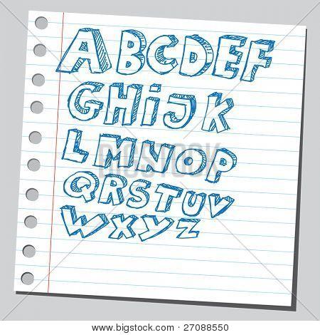 Scribble alphabet