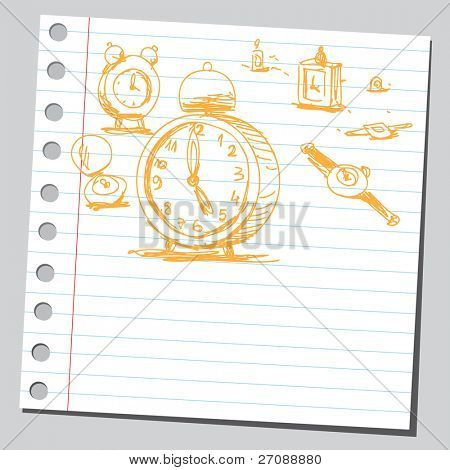 Scribble clocks