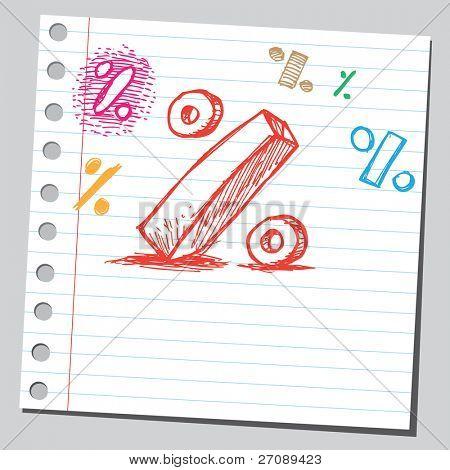 Scribble percent symbol