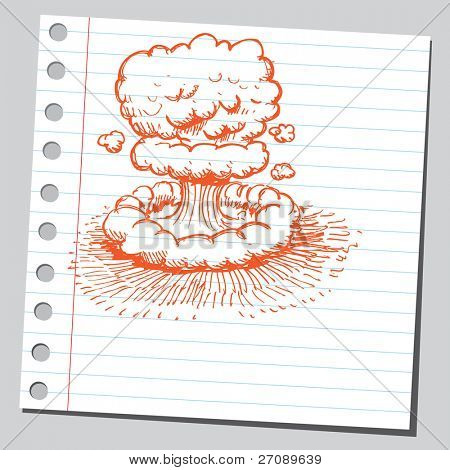 Scribble nuclear explosion