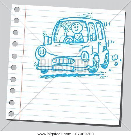 Scribble car driver