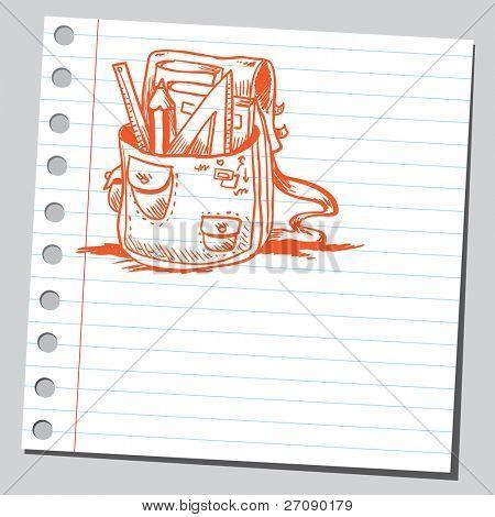 Scribble school bag
