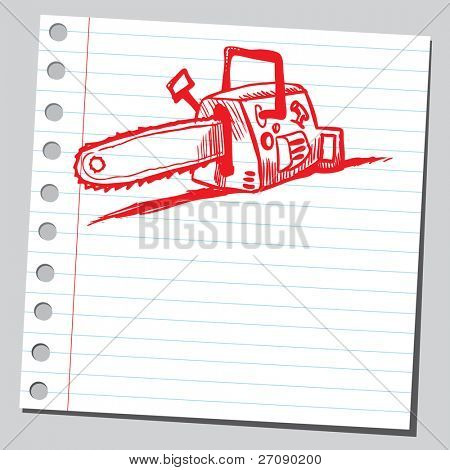 Scribble chain saw