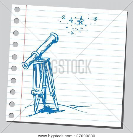 Scribble telescope