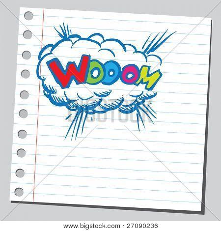 Scribble comic explosion 2